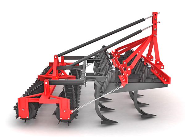 HEAVY THICK FRAME VERTICAL CULTIVATOR DOUBLE ROLLER COMBINATION