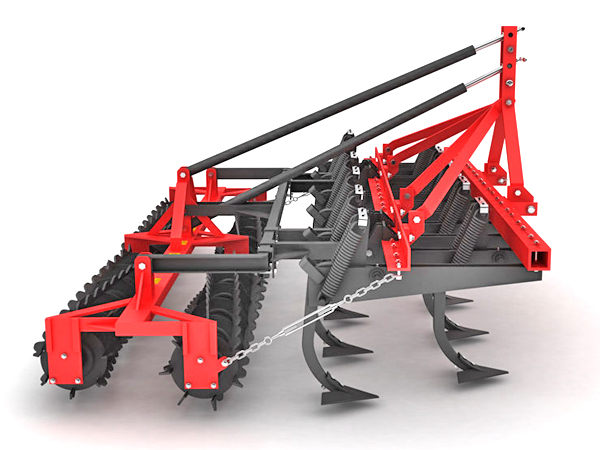 HEAVY CLOSURE FRAME VERTICAL CULTIVATOR DOUBLE ROLLER COMBINATION